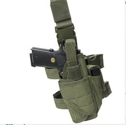 Wholesale Puttee Pistol Holster - Adjustable Outdoor Hunting Waterproof Tactical Nylon Puttee Thigh Leg Pistol Gun Holster Pouch Quick Release Buckle