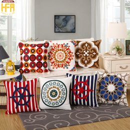 Wholesale Cushion Cover Embroidery Patterns - 45*45Cm Decorative Pillow Covers Cushion Case Cotton Embroidery Pillow Covers One Side Flower Pattern Pillowcase Living Room Decoration