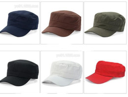 Wholesale Cap Hat Air - Classic Women for Adustable Outdoor Air Flat Men Hat Vintage Army Sun Cap Cadet Military Patrol Adjustable Outdoors Unisex Army Hats Summer