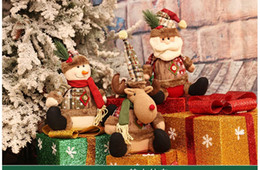 Wholesale Large Plastic Dolls Wholesale - New Year 2017 Christmas Dolls Large Santa Snowman Figurine Christmas Gifts Toys for Christmas Decorations for Home