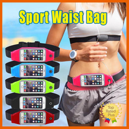 Wholesale Pink Waterproof Galaxy S3 Cases - Waterproof Sport Gym Waist Bag Pounch For iPhone 7 6 6S For Samsung Galaxy S3 S5 S6 S7 Running Wallet Cover For Huawei