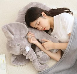 Wholesale One Hot Doll - Hot Elephant Baby Sleeping Pillow+Blanket Elephant Plush Toys Dolls INS Elephant Stuffed Animal Toys Elephant Throw Pillow