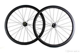 Wholesale Tubular Disc Cyclocross Wheels - Carbon fiber road bike wheels disc brake 38mm clincher tubular bicycle wheelset 700c width 25mm XC cyclocross thru axle or QR available