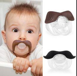 Wholesale Funny Cute Baby Boy - baby pacifier funny pacifier Cute Teeth Mustache Baby Boy Girl Infant Pacifier Orthodontic Dummy Beard Nipples Pacifiers KKA2479