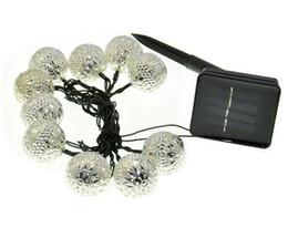 Wholesale Super Ball Led - Super bright Warm white 10 Balls Set Moroccan LED Solar String lights LED Fairy Lights Outdoor Christmas Decoration LED Lamp Solar Powered