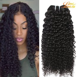 Wholesale 18 Weave Hair Extensions - Peruvian Curly Human Hair Weaves 100% Virgin Unprocessed 8A Brazilian Malaysian Indian Cambodian Mongolian Jerry Kinky Curls Hair Extensions