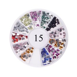 Wholesale 3d Nail Stickers Metal - Many Styles #01-#19 Wheel Charms For 3D Nails Art Decorations Fruit Animal Beads Metal Plant Many Shapes Colors DIY Nail Tips Stickers