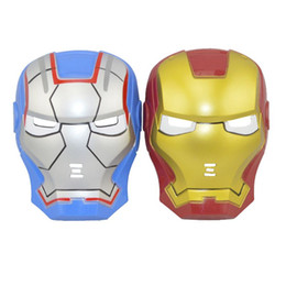 Wholesale Light Up Adult Toys - iron man mask LED helmet LIGHT UP cosplay Masks toys For Kids Adults Party Halloween Birthday
