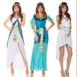 2019 egito sexy 2016 Sexy Halloween Cleópatra Trajes de Moda a Rainha do Egito Vestidos Musilim Índia Arábia Menina Vestido traje bola Rolepaly terno egito sexy barato