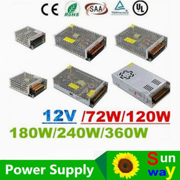 Wholesale Led Strip Transformer - CE ROHS UL CSA SAA + 12V 6A 10A 15A 20A 25A 30A Led Transformer 70W 120W 360W Power Supply For Led Modules Strips