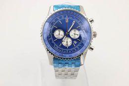 Relógios de marca de homens populares on-line-Popular velho marca de quartzo-relógio homens cronômetro mostrador azul caixa de prata inoxidável cinto esqueleto de prata 1884 relógio frete grátis hkpost