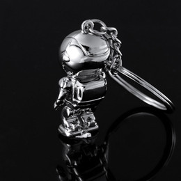 Wholesale Robot Keychain Metal - Top Fashion Asimo Robot key chains keychain key holders key ring for honda auto car styling free shipping