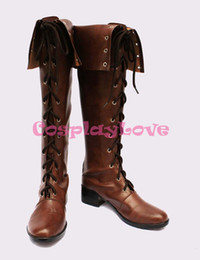 Wholesale Long Shoes For Ladies - Wholesale-Newest Custom Made Japanese Game Devil May Cry 4 Lady Cosplay Shoes Long Boots For Halloween Christmas Festival CosplayLove