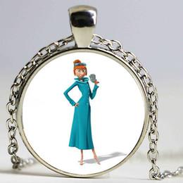 Wholesale Despicable Minion Glasses - Steampunk movie Despicable Me Minion Necklace 1 pcs lot bronze or silver Glass pendant jewelry chain Children's toys gift