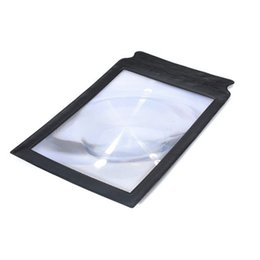 Wholesale Large Magnifier 3x - 2015 High Quality A4 Full Page Giant Large Assisted reading Magnifying Glass Sheet 3X Magnifier
