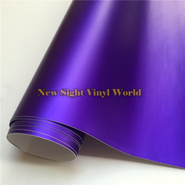 Wholesale Violet Vinyl - High Quality Violet Matte Satin Chrome Purple Vinyl Wrapping Film Air Bubble Free For Car Styling