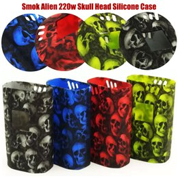 Wholesale Skull Starter Kits - Smok Alien 220w Skull Head Silicone Case Rubber Sleeve Protective Cover Skin For SmokTech Alien 220 TC Box Mod Starter Kit Vape