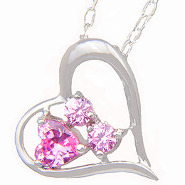 Wholesale Chains Wholesalers Usa - NICE 6 Pieces 1LOT Crystal Heart Fire Pink Cubic Zirconia Gems 925 Sterling Silver USA Israel Engagement Pendants Necklaces Weddings Jewelry