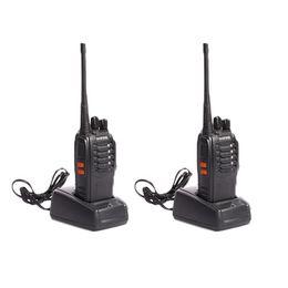 Wholesale Wireless Radio Walkie Talkie - S5Q 2x Premium BF-888S 400-470MHz 5W Professional Wireless Handheld Walkie Talkie AAAGCV