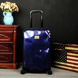 Wholesale Trolley Case Boys Luggage - Wholesale- NEW Matte personality Meteorite has Damaged Travel Trolley Case hardside rolling luggage suitcase with wheels