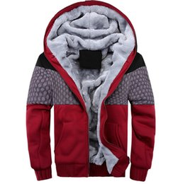 Wholesale Korean Fashion Cardigan Men - 2016 new men's sweater hooded fall and winter clothes baseball clothing Korean fashion stitching campaign plus velvet thick cotton jacket
