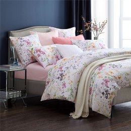 Wholesale Egyptian Cotton Sets - Home textile100%luxury Egyptian cotton High quality 4pcs Full of pink flowers Bedding sets queen king size Duvet cover Pillowcas bed set