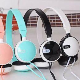 Wholesale Cheap Earphone Plugs - Wholesale-DIID cheap headset earphone with 3.5mm audio plug microphone headphone for phone pc xiaomi