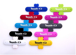Wholesale Tablet Stander - Portable Universal Touch U Stand Holder Stander Sticker For iphone Samsung Cellphone phone Tablet etc