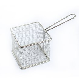 Wholesale French Fry Basket - Filter Basket Stainless Steel Mini Hygiene Snack French Fries Cooked Food Deep Fried Baskets Practical Tool Hot 14dh F R