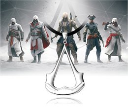 Wholesale Blade Costumes - 2016 New Assassin's Creed Hidden Blade Cosplay Jewelry Chain Rope Necklace Assassins Creed 3 Costume Jewelry Pendant Punk