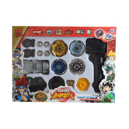 Wholesale Enlighten Girls - 2016 Hot Sale 4D Rapidity Toy Spinning Tops Toys Metal Beyblade toy for children With Four Beyblade Enlighten Children Toys Gift