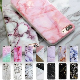 Wholesale Scrub Phone Covers - Flower Granite Scrub Marble Stone image Painted Silicone TPU Soft Back Phone Cover Case for Iphone 6 6s plus 7 7plus 8 8plus