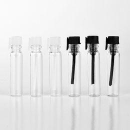 botellas de spray de vidrio verde al por mayor Rebajas Venta al por mayor 1000 Unidades / Lote 1 ML Mini Botella de Perfume de Cristal Transparente Portátil Con Palo Vacío Aceites Esenciales Vial Para el Paquete de Prueba