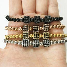 Wholesale 5mm Beads Black Bracelet - Anil Arjandas Fashion Men Bracelet 5mm Round Bead&Micro Pave Black CZ Connector Braiding Anil Arjandas Men Macrame Bracelet