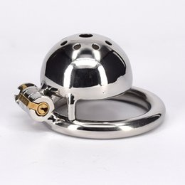 Wholesale Sex Sm Products - Metal Chastity Device Sex Toy For Man Stainless Steel SM Toys Adult Male Bondage Small Cock Cage Fetish Product