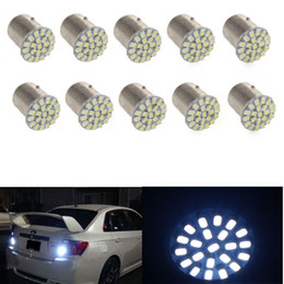 Wholesale Led Stop Tail - new arrival!10x led Tail Break Stop Turn Signal Light 132LM White 1157 BAY15D 22 SMD LED Bulb CLT_02S