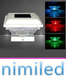 Discount led square panels rgb - nimi1043 1 LED IP44 Polycrystalline Silicon Solar Panel Landscape Light Garden Fence Lighting Outdoor Park Scenic Square RGB Decorative Lamp