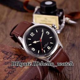2019 mejor correa de cuero marrón Nuevo reloj de marca de lujo Heritage Ranger 79910-BKBB Reloj de hombre de esfera negra Automático 95760 Reloj de pulsera de cuero marrón de hombres Mejores relojes de pulsera mejor correa de cuero marrón baratos