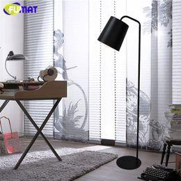 Wholesale Floor Reading Lamps - FUMAT Floor Lamp Nordic Designer Stand Lamp Modern Bedroom Beside Light Black White Yellow Iron Floor Lamps Reading Light