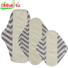 Wholesale Sanitary Cloth Pads - S M L Reusable Waterproof Bamboo Cloth Panty Liner Sanitary Pads Menstrual Cloth Pads Health and Beauty Products