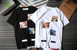 Wholesale Boxing Tshirt - New 2017 Summer Fashion Collaboration Vetements ASSC OFF White Pablo Cooperation Hip Hop Box Logo Tee T-Shirts Men Women Short Sleeve Tshirt