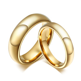 Wholesale Couples Beautiful - Fashion Jewelry Tungsten golden Circle Real Love Couple Ring Wedding Rings Engagement Rings Valentines Gift,Jewelry Romantic And Beautiful