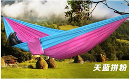 Wholesale Wholesale Use Furniture - 2016 Top Selling Outdoor Portable Camping Double hammock Outdoor Furniture General Use parachute hammock portable swing bed