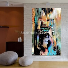 Wholesale Nude Girl Abstract Art Paint - Abstract hand painted Handcraft Portrait oil painting on canvas,Nude Girl 24x36inch(NO stretch) decorative wall pictures art