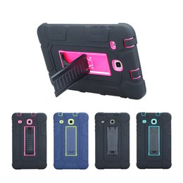 Wholesale Green Protective Covers - Newest Fashion 3 In 1 Shockproof Silicon Tab E 8.0 Protective Shell Case for T377 T375 Tablet Case Cover with Holder
