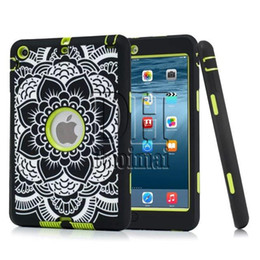 Wholesale Animal Ipad Mini Cases - DHL Free Relief Elephant Extreme Military Survival Silicone Shockproof Cover Heavy Dust Shock Proof Case Cover For iPad mini 1 2 3 4