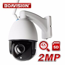 Wholesale Wifi Camera Pan Tilt Zoom - Wireless PTZ Speed Dome IP Camera WIFI Outdoor 1080P 4X Zoom ONVIF IR 60M CCTV Security Video Network Surveillance Camera