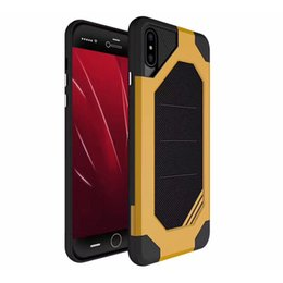 Wholesale armor cellphone - For iPhone 8 Plus iPhone X Samsung S8 Plus 2 in 1 Anti-Fall Protection Shockproof Armor Hard TPU PC Cellphone Cover Cases