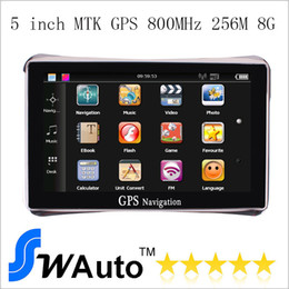 Wholesale Navigation Europe - 5 inch Car GPS Navigator Navigation System 256M 8G FM Transmit IGO Free Maps Europe USA Maps Truck Maps
