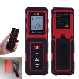Wholesale Tools Measuring Area - Wholesale-Convenient 40m Mini Handheld Digital LCD backlight Laser distance meter Rangefinder measure Area volume tool